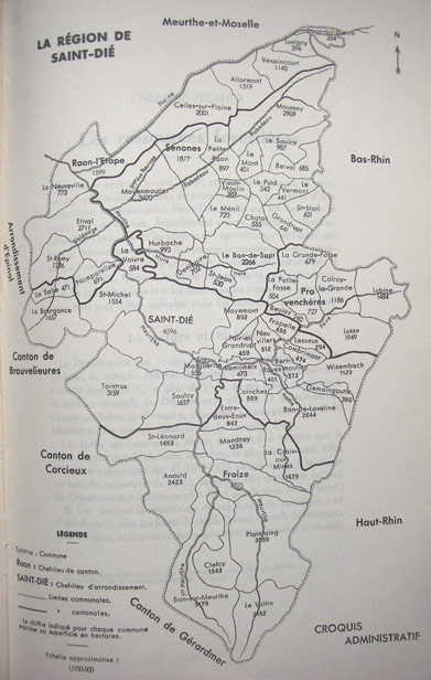 Arrondissement de Saint Dié en 1935